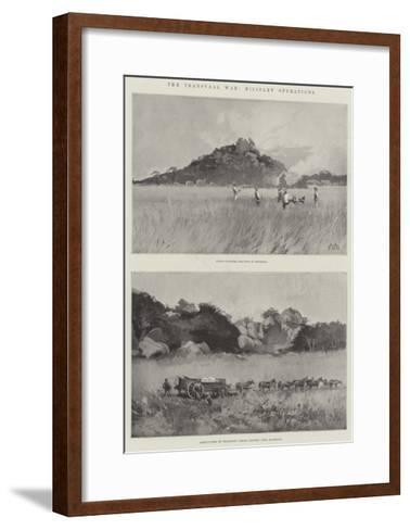 The Transvaal War, Military Operations-Charles Auguste Loye-Framed Art Print