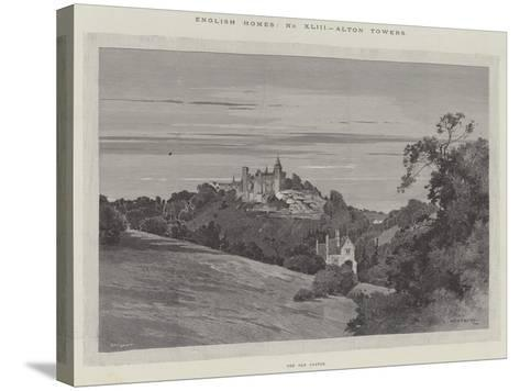 English Homes, Alton Towers, the Old Castle-Charles Auguste Loye-Stretched Canvas Print