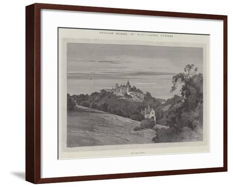 English Homes, Alton Towers, the Old Castle-Charles Auguste Loye-Framed Art Print
