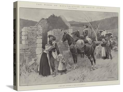 The Work of Repatriation in South Africa-Charles Auguste Loye-Stretched Canvas Print