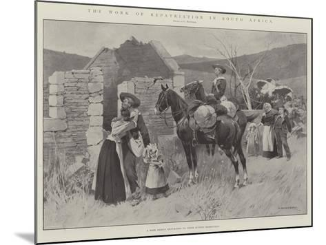 The Work of Repatriation in South Africa-Charles Auguste Loye-Mounted Giclee Print