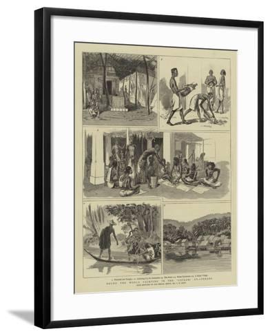 Round the World Yachting in the Ceylon, XV, Penang-Charles Edwin Fripp-Framed Art Print