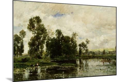 The Edge of the Pond, 1873-Charles Francois Daubigny-Mounted Giclee Print