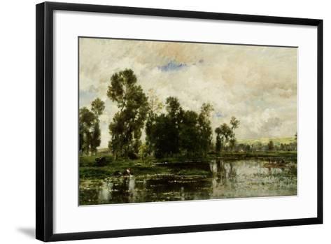 The Edge of the Pond, 1873-Charles Francois Daubigny-Framed Art Print
