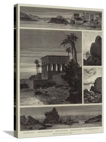 Sketches on the Upper Nile, Philae-Charles Auguste Loye-Stretched Canvas Print