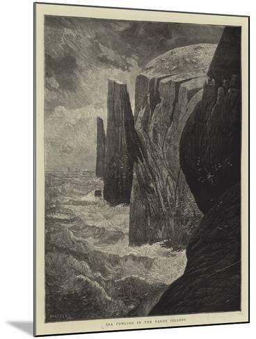 Sea Fowling in the Faroe Islands-Charles Auguste Loye-Mounted Giclee Print
