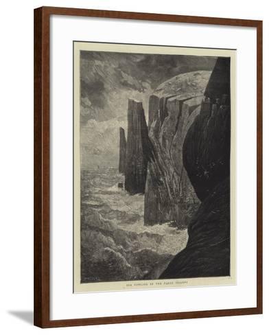 Sea Fowling in the Faroe Islands-Charles Auguste Loye-Framed Art Print