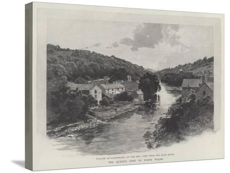 The Queen's Visit to North Wales-Charles Auguste Loye-Stretched Canvas Print