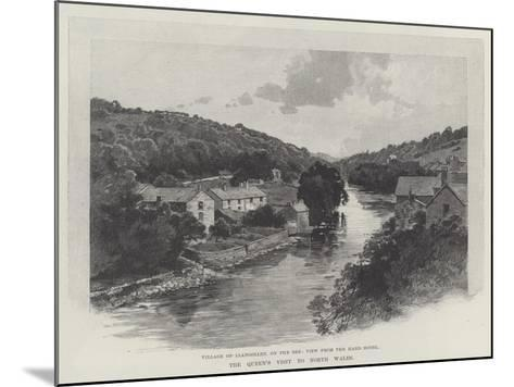The Queen's Visit to North Wales-Charles Auguste Loye-Mounted Giclee Print