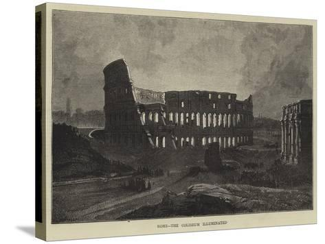 Rome, the Coliseum Illuminated-Charles Auguste Loye-Stretched Canvas Print