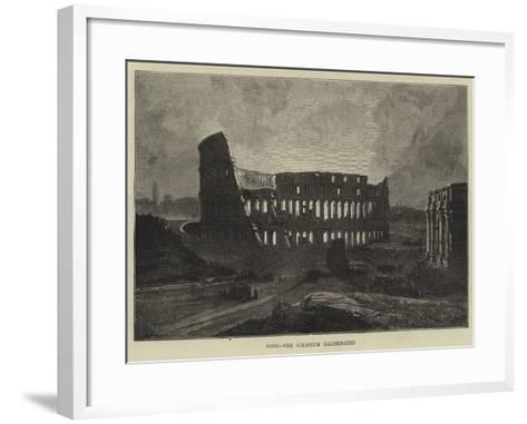 Rome, the Coliseum Illuminated-Charles Auguste Loye-Framed Art Print