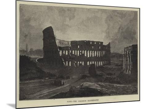 Rome, the Coliseum Illuminated-Charles Auguste Loye-Mounted Giclee Print