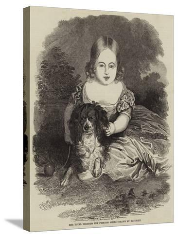 Her Royal Highness the Princess Alice-Charles Baugniet-Stretched Canvas Print