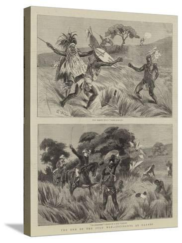 The End of the Zulu War, Incidents at Ulundi-Charles Edwin Fripp-Stretched Canvas Print