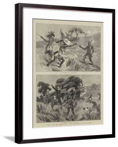 The End of the Zulu War, Incidents at Ulundi-Charles Edwin Fripp-Framed Art Print