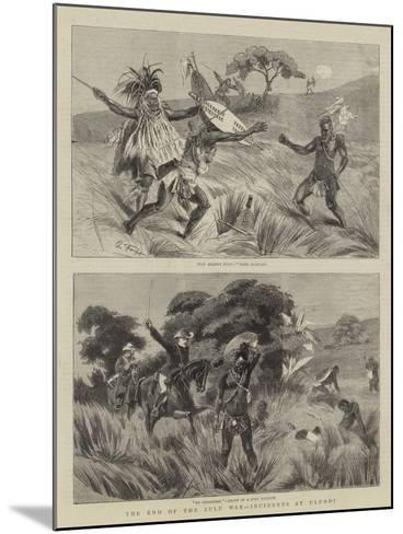 The End of the Zulu War, Incidents at Ulundi-Charles Edwin Fripp-Mounted Giclee Print