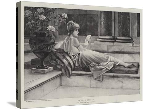 A Love Letter-Charles Frederick Lowcock-Stretched Canvas Print