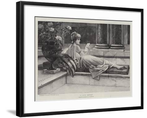 A Love Letter-Charles Frederick Lowcock-Framed Art Print