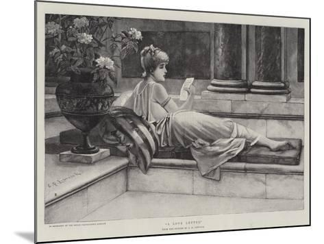 A Love Letter-Charles Frederick Lowcock-Mounted Giclee Print