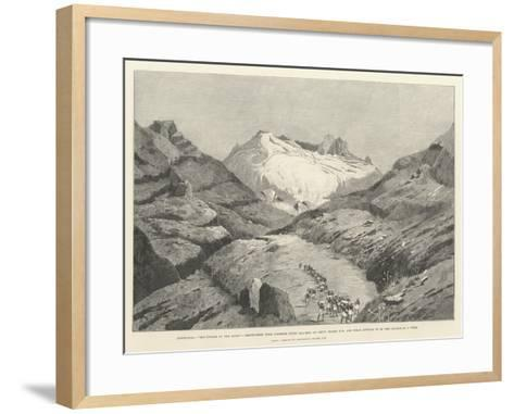 Stanley's Emin Pasha Relief Expedition-Charles Auguste Loye-Framed Art Print