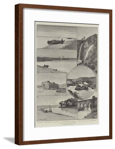 The River of Joseph and the Fayoum-Charles Auguste Loye-Framed Art Print