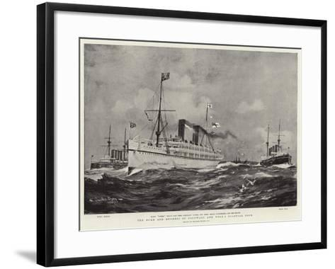 The Duke and Duchess of Cornwall and York's Colonial Tour-Charles Edward Dixon-Framed Art Print