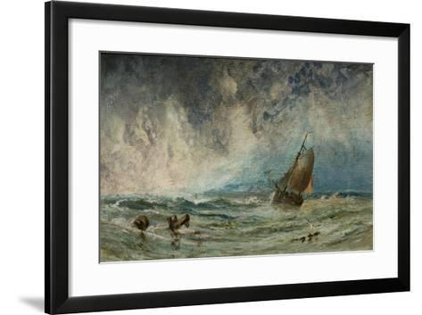 Seascape with Ship-Charles George-Framed Art Print
