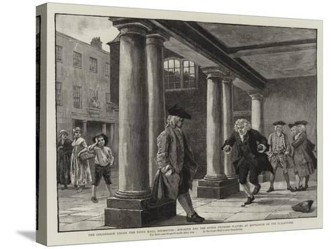 The Colonnade under the Town Hall-Charles Green-Stretched Canvas Print