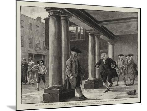 The Colonnade under the Town Hall-Charles Green-Mounted Giclee Print