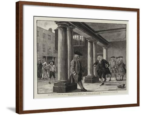 The Colonnade under the Town Hall-Charles Green-Framed Art Print
