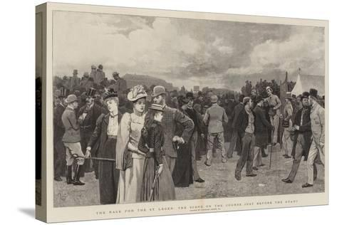 The Race for the St Leger, the Scene on the Course Just before the Start-Charles Green-Stretched Canvas Print