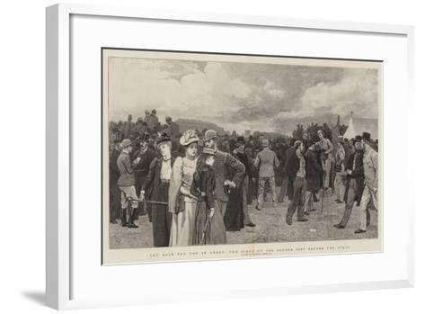 The Race for the St Leger, the Scene on the Course Just before the Start-Charles Green-Framed Art Print