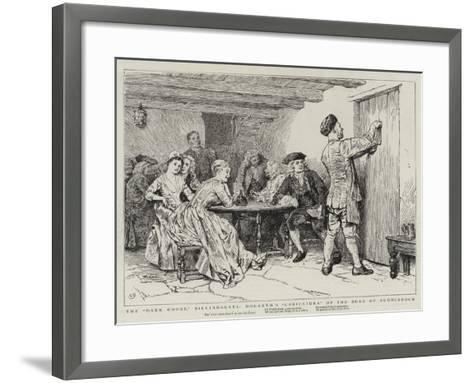 The Dark House, Billingsgate, Hogarth's Caricatura of the Duke of Puddledock-Charles Green-Framed Art Print