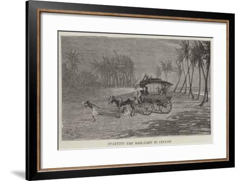 Starting the Mail-Cart in Ceylon-Charles Edwin Fripp-Framed Art Print