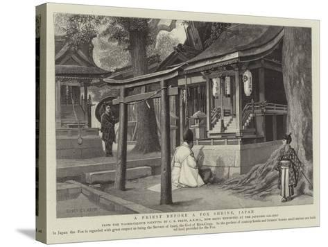 A Priest before a Fox Shrine, Japan-Charles Edwin Fripp-Stretched Canvas Print