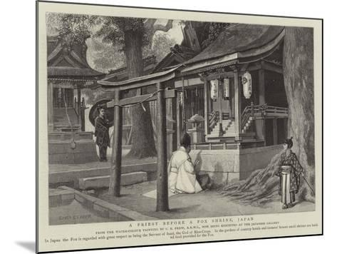 A Priest before a Fox Shrine, Japan-Charles Edwin Fripp-Mounted Giclee Print