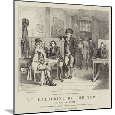 St Katherine by the Tower-Charles Green-Mounted Giclee Print
