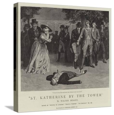 St Katherine by the Tower-Charles Green-Stretched Canvas Print