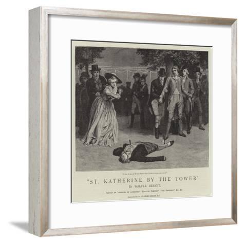 St Katherine by the Tower-Charles Green-Framed Art Print