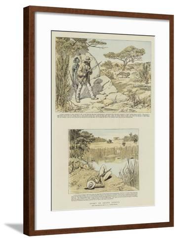 Sport in South Africa-Charles Edwin Fripp-Framed Art Print