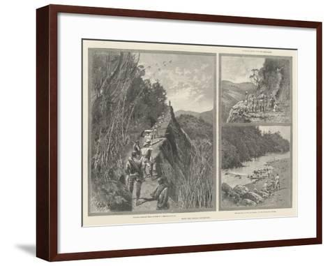 With the Lushai Expedition-Charles Auguste Loye-Framed Art Print