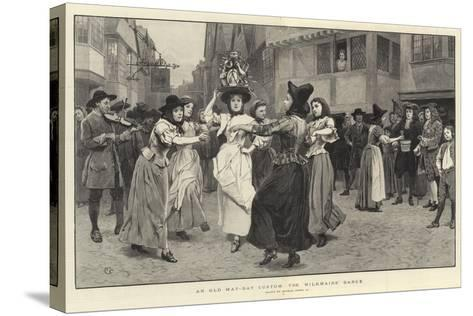 An Old May-Day Custom, the Milkmaid's Dance-Charles Green-Stretched Canvas Print