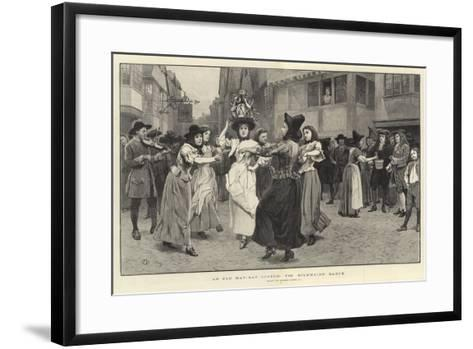 An Old May-Day Custom, the Milkmaid's Dance-Charles Green-Framed Art Print