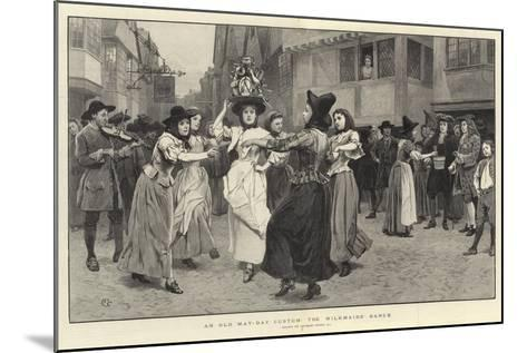 An Old May-Day Custom, the Milkmaid's Dance-Charles Green-Mounted Giclee Print