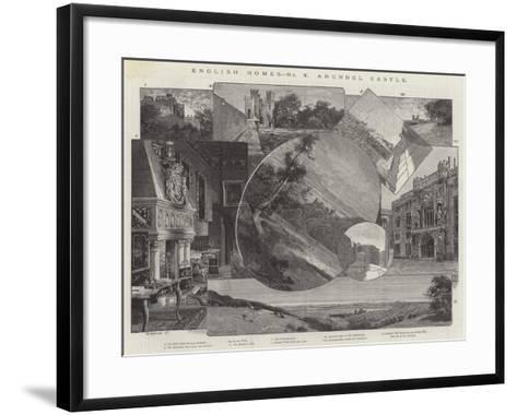 Arundel Castle-Charles Auguste Loye-Framed Art Print