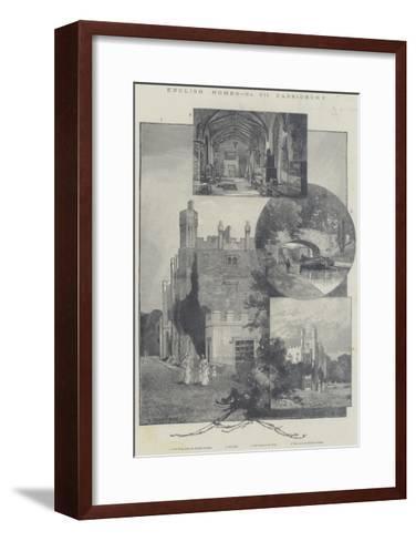 English Homes, Cassiobury-Charles Auguste Loye-Framed Art Print