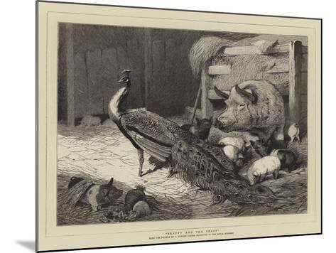 Beauty and the Beast-Charles Burton Barber-Mounted Giclee Print