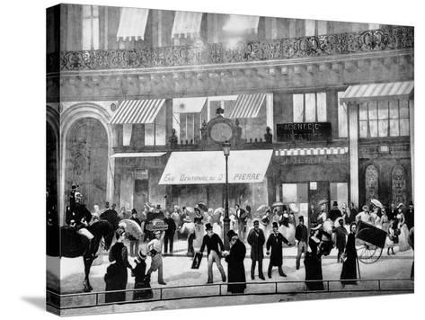 The Boulevards of Paris-Charles Castellani-Stretched Canvas Print