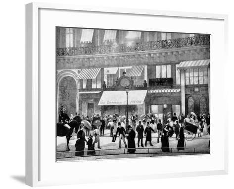 The Boulevards of Paris-Charles Castellani-Framed Art Print