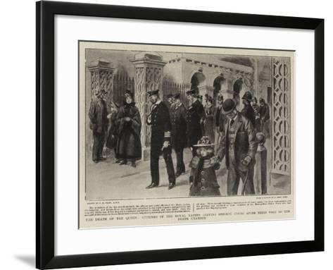 The Death of the Queen-Charles Edwin Fripp-Framed Art Print